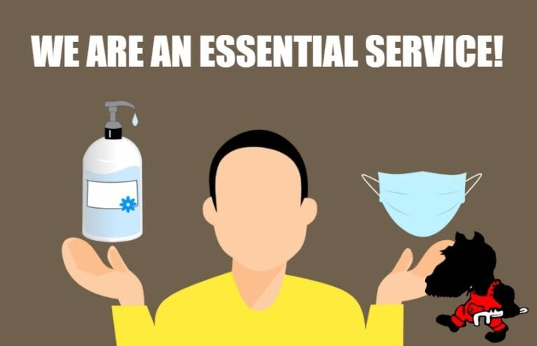 We're an essential service!